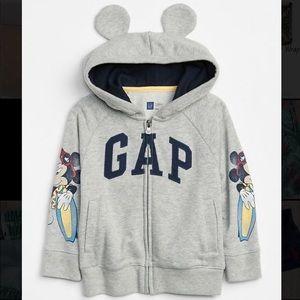GAP Mickey Mouse Surf Full Zip Hoodie